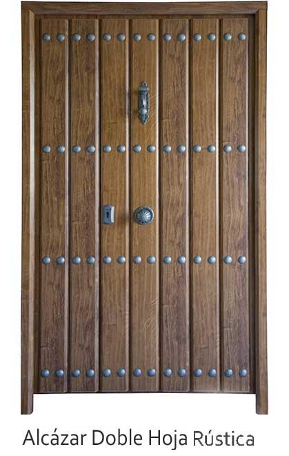 Puerta metalica alcazar maderas g mez - Puertas de castano ...