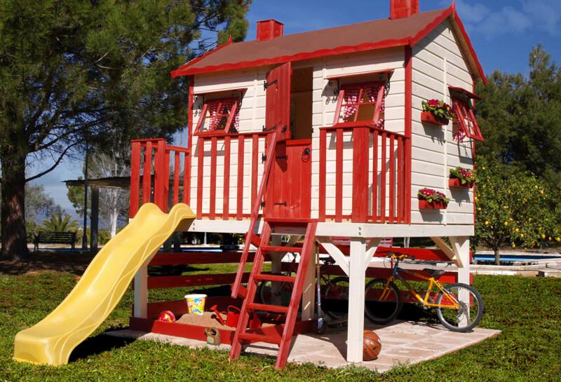 cabaña madera niños