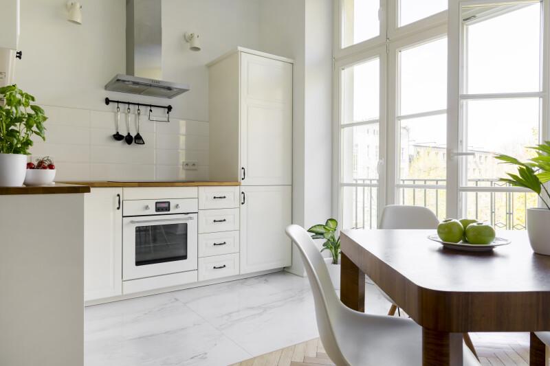 cocina blanca luz